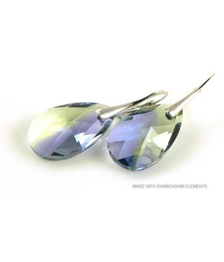 "Bijou Gio Design™ Silver Earrings with Swarovski Elements Pear-Shaped ""Pro. lav - chrys. blend"""