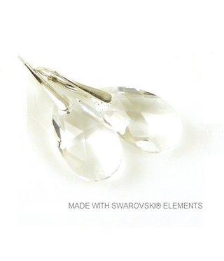 "Bijou Gio Design™ Silver Earrings with Swarovski Elements Pear-Shaped ""Crystal"""