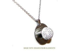 Edelstahl Kette und Anhänger mit austauschbaren Swarovski-Steinen
