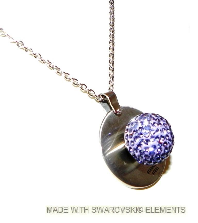 Stainless steel necklace and pendant with removable swarovski stainless steel necklace and pendant with removable swarovski stone aloadofball Choice Image