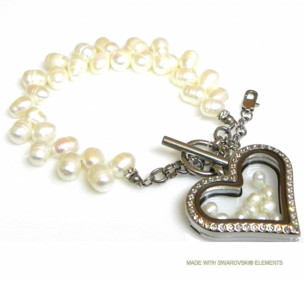 Bijou Gio Design™ Bracelet de Perles avec de la mémoire Médaillon et Mini photo* Breloques