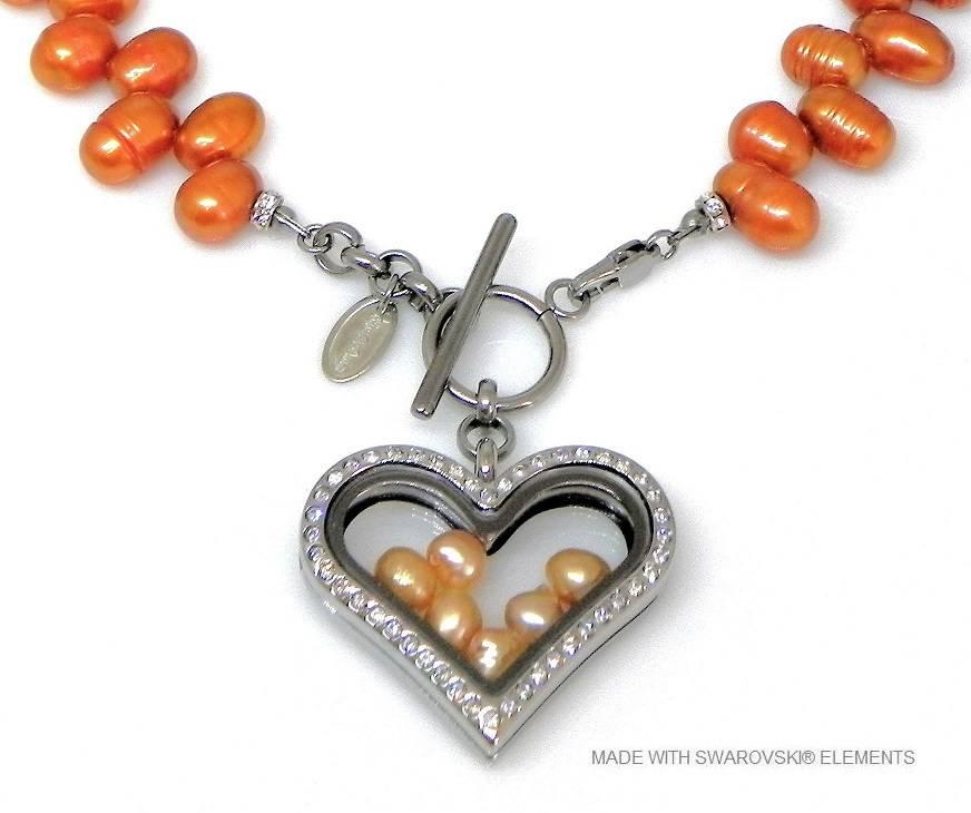 Bijou Gio Design™ Collier de Perles avec de la mémoire Médaillon et Mini photo Breloques