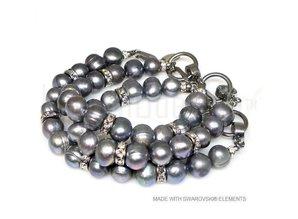 Bijou Gio Design™ Set Edelstahl Perlen Armband und Perlenkette
