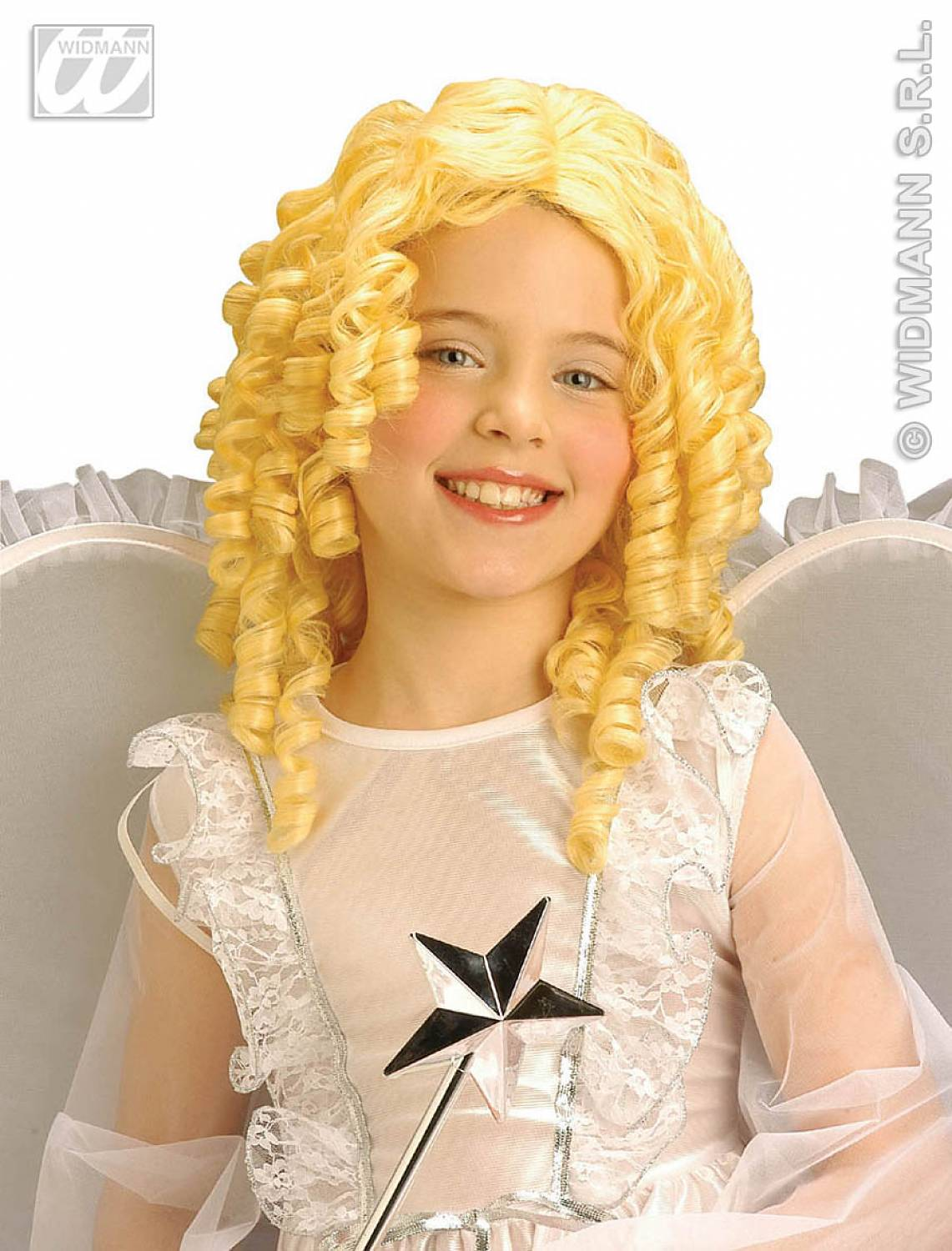 Carnival Accessories Wig Angel Curly Hair Child In Plastic Box