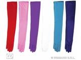 Carnival-accessories: Gloves multi-colour, cotton , 60cm