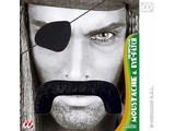 Carnival-accessories: mustache Pirate with Eyepatch