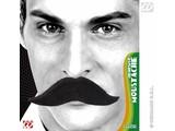 Carnival-accessories: mustache black, big