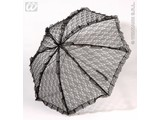 Carnival-accessories: lace umbrella, black
