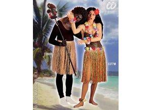 Carnival-costumes: Hawaiiskirt straw blanco, 55cm