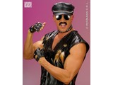 Carnival-accessory: Biker / rocker Gloves (leatherlook) with spikes (biker)