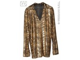 Carnival-costumes: Disco fever shirt gold