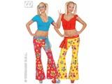 Carnival-costumes: Pants seventies Flowerprint, Woman