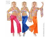 Carnival-costumes: Woman-pants stretch seventies, 3 colours