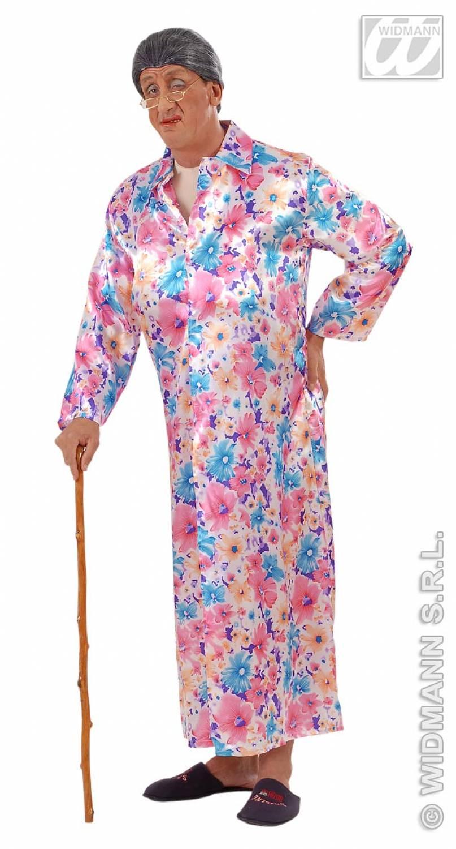 Carnival-costumes: Flasher Granny, satin - Fancy dress