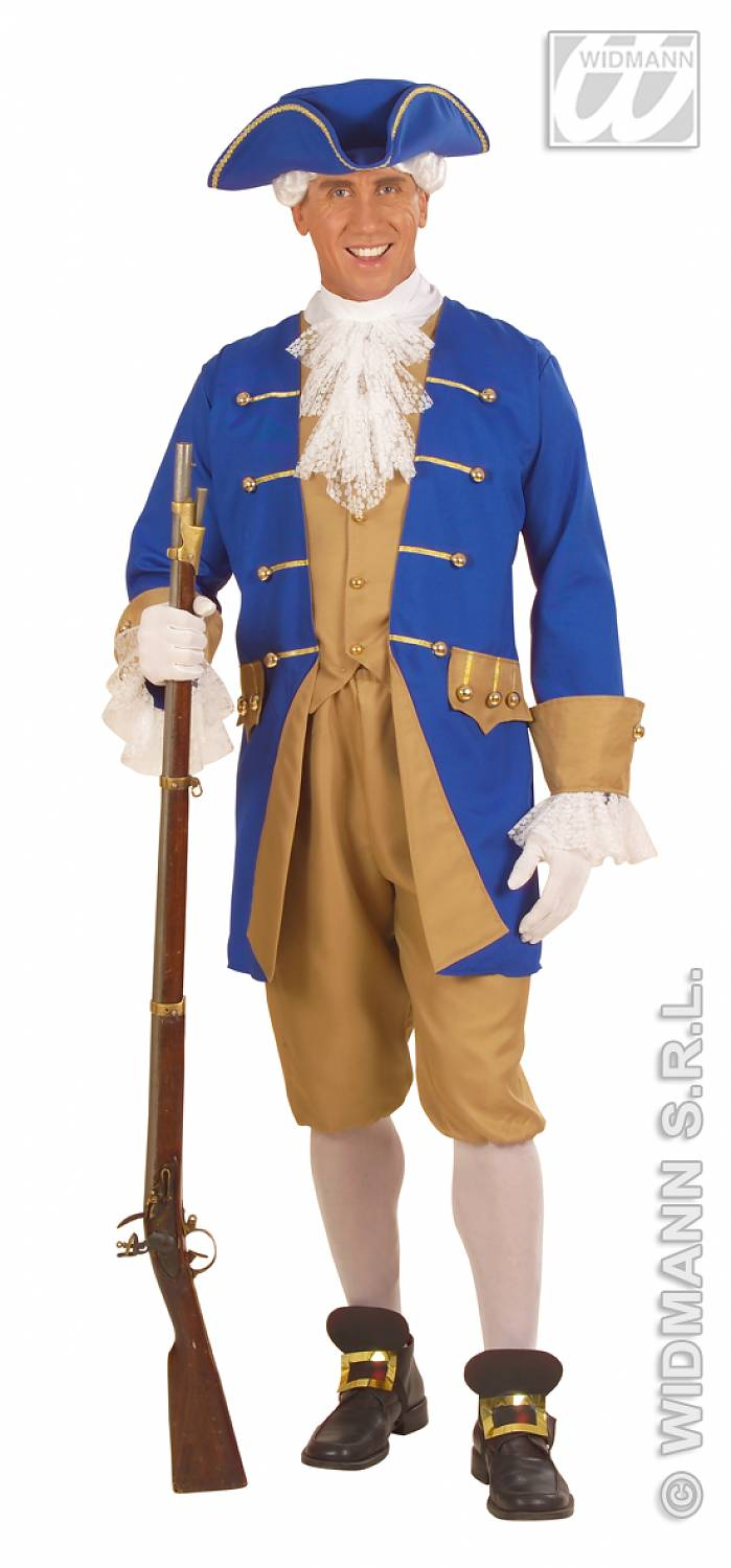 Carnival costumes colonial man fancy dress