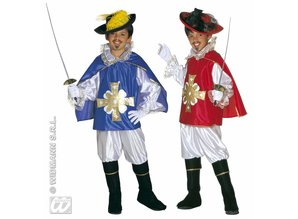 Carnival-costumes: Children: Musketeer (red or Blue)
