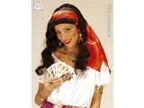 Carnival-accessories: Wig, Gipsy-woman with Headband