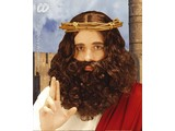 Carnival-accessory:  Wig, Jesus with beard and mustache