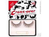 Carnival-accessories:  Eyelashes black, crossing with strass gems