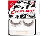 Carnival-accessories: Eyelashes black, crossing