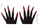 Carnival-accessory:  Scary Gloves with glitter Nails
