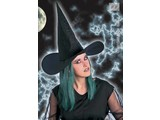 Carnival headgears:  Witchhat with green hair