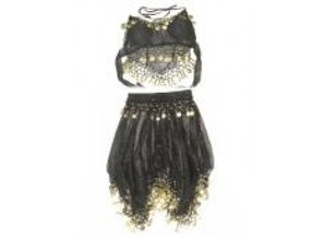 Carnival-costumes:  Belly-dancer Belly black