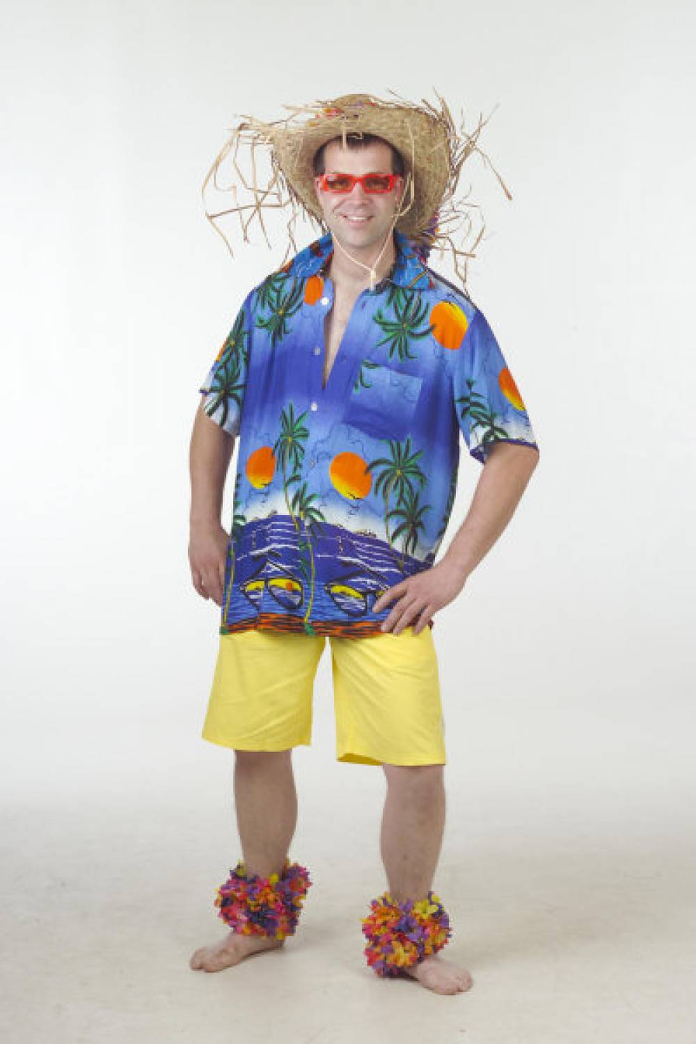 c61821a3dc26 Carnival-costumes: Hawaii-shirt blue palm - Fancy dress