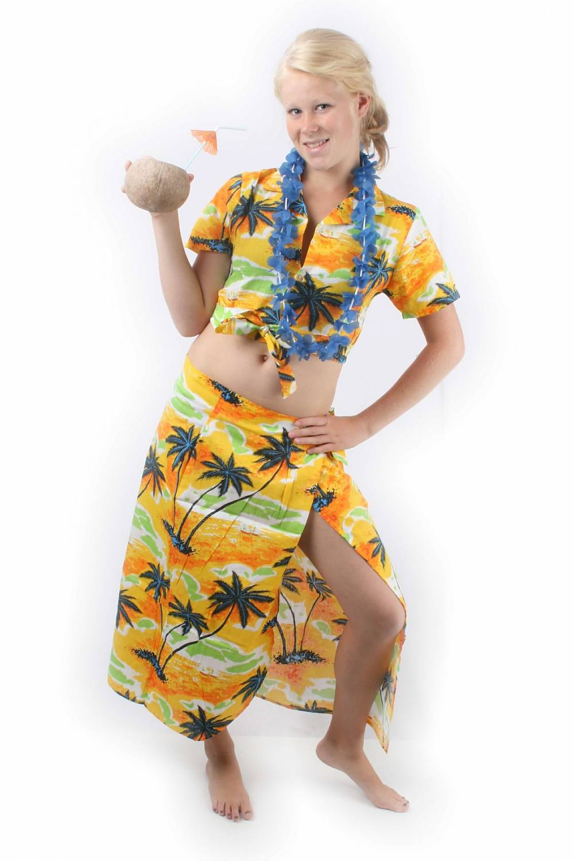 5781ee65980a Carnival-costumes: Hawaii set woman - Fancy dress