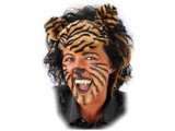 Carnival- & Party- accessories: Wig Tiger or Panter
