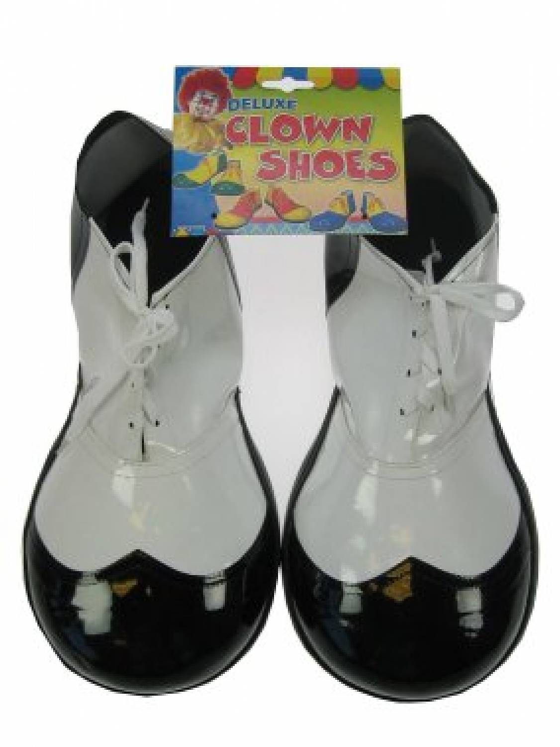 carnival accessories clownshoes black white