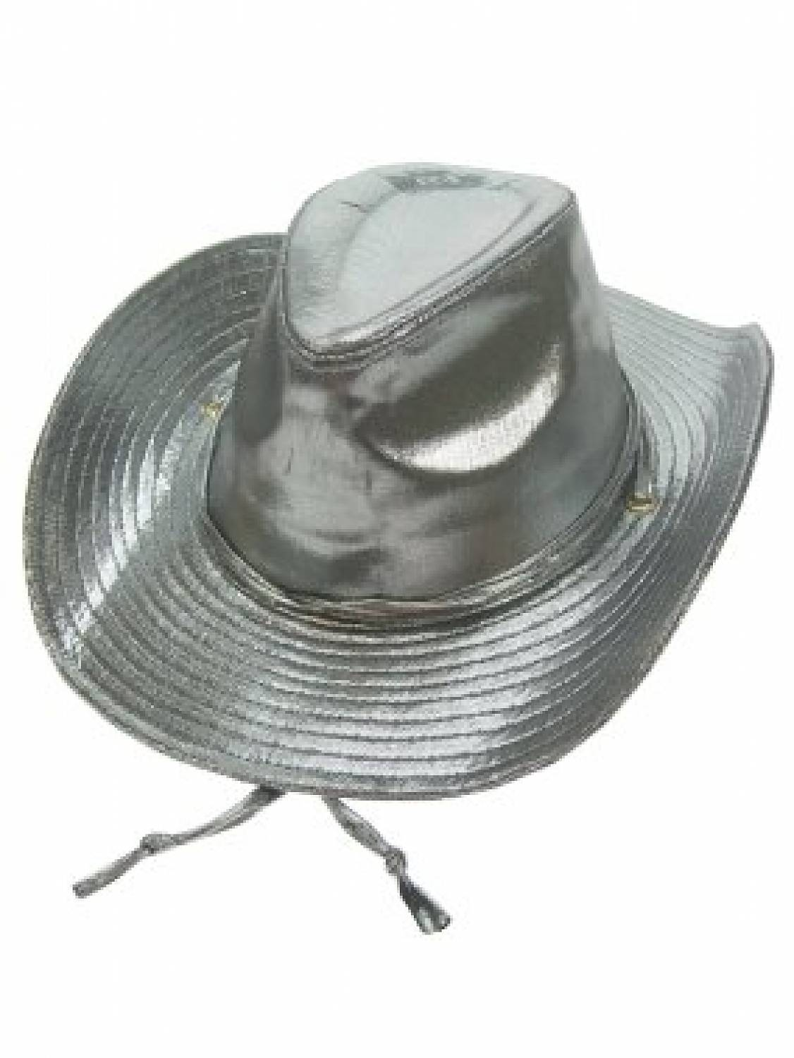 Carnival-   Party- accessories  Cowboy-Hat Madonna (gold of Silver metallic) 41bd57db86a