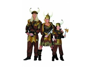 Carnival-costumes:  Viking-family