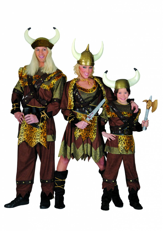 Carnival-costumes: Viking-family - Fancy dress