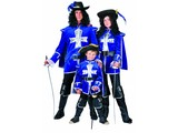 Carnival-costumes:  blue Musketeers