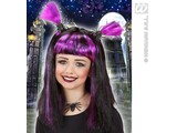 Carnival-accessories: Children's wig Halloween with spiders