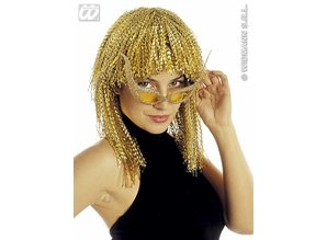Carnival-accessories: Disco-wig in gold or silver ( crushed lurex)