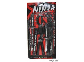 Carnavalsaccessoires: Ninjaset