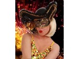 Carnival- & Party- accessories:  Venetian Eye-mask with Hat (Woman and Man)
