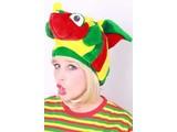 Hat Angel fish red/yellow/green
