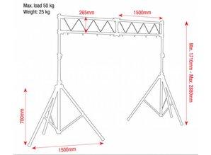 Showtec Lichtbrug (basic)  met ladder truss  3mtr