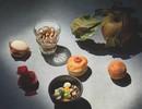 Donut ganzenlever-mousse, kweepeer/appelgelei
