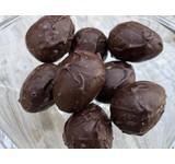 Chocolade paaseitjes ganzenlevercrème/morel/hazelnoot
