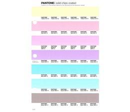 Pantone PMS Solid Chips vervangingspagina op coated papier 1.4C, kleurnummers Yellow 01331C - Red 0331C - Magenta 0521C - Violet 0631C - Blue 0821C - Green 0921C - Black 0961C