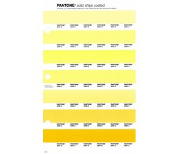 Pantone PMS Solid Chips vervangingspagina op coated papier 4C, kleurnummers 2001C - 2002C - 2003C - 2004C - 2005C - 2006C - 2007C