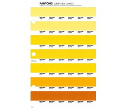 Pantone PMS Solid Chips vervangingspagina op coated papier 13C, kleurnummers 2008C - 2009C - 2010C - 2011C - 2012C - 2013C - 2014C