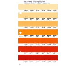 Pantone PMS Solid Chips vervangingspagina op coated papier 19C, kleurnummers 712C - 713C - 714C - 715C - 716C - 717C - 718C
