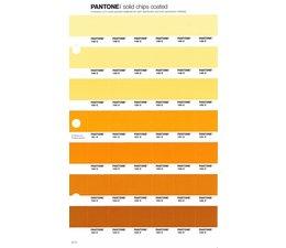 Pantone PMS Solid Chips vervangingspagina op coated papier 21C, kleurnummers 148C - 149C - 150C - 151C - 152C - 153C - 154C