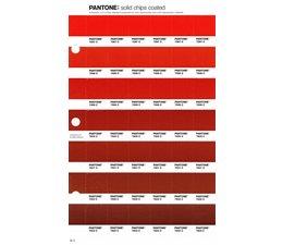 Pantone PMS Solid Chips vervangingspagina op coated papier 32C, kleurnummers 7597C - 7598C - 7599C - 7600C - 7601C - 7602C - 7603C