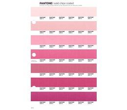 Pantone PMS Solid Chips vervangingspagina op coated papier 34C, kleurnummers 2337C - 2338C - 2339C - 2340C - 2341C - 2342C - 2343C